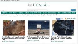 Screenshot of Huffington post ETI Malta